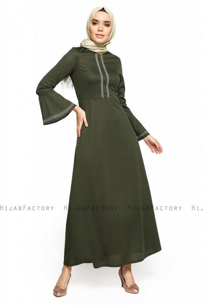 Deste - Khaki Kleid - Miss Halima