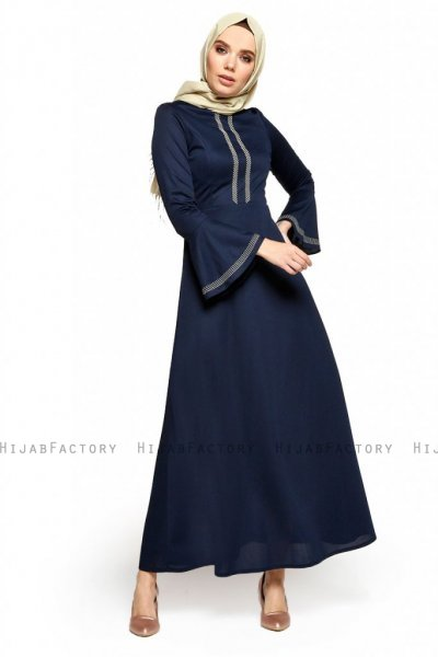 Deste - Navy Blau Kleid - Miss Halima
