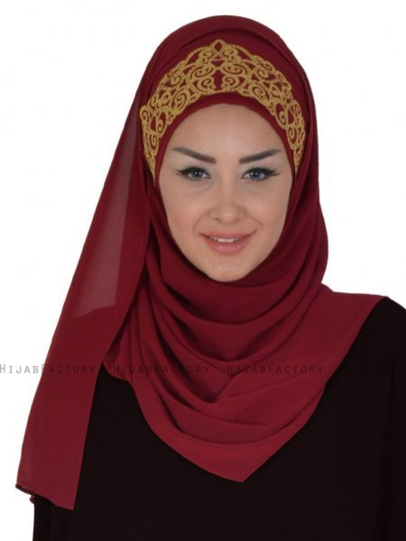 Gina Bordeaux Praktisk One-Piece Hijab Ayse Turban 324107-1