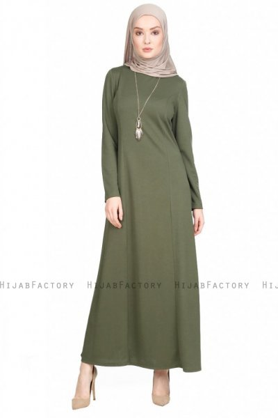 Naila - Khaki Kleid - Miss Halima