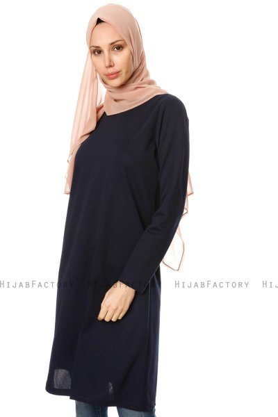 Sarah - Navy Blau Tunika - Miss Halima